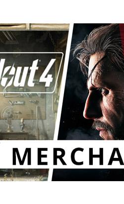 Herní merchandise - Doom, Fallout, Uncharted, Metal Gear
